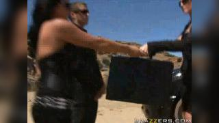 Lisa Ann, Sophia Lomeli and Julia Ann: Milfland Security 2 The Drop off