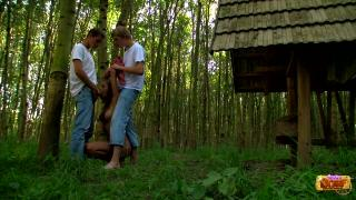 Augustin and Aleksej fucks Iva in her pretty pussy