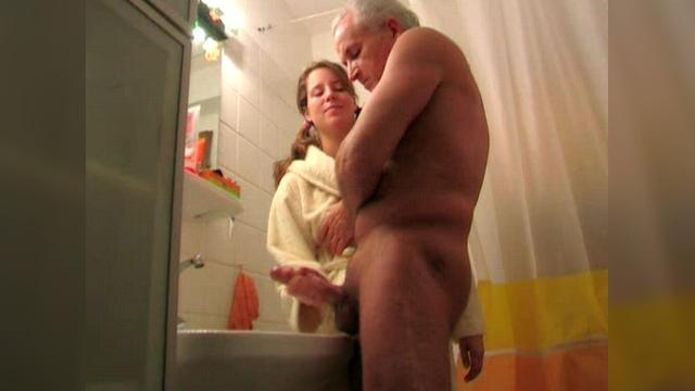 Bathroom Handjob Training