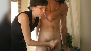 clip182 Mrs Williams Spanks and Jerks Again