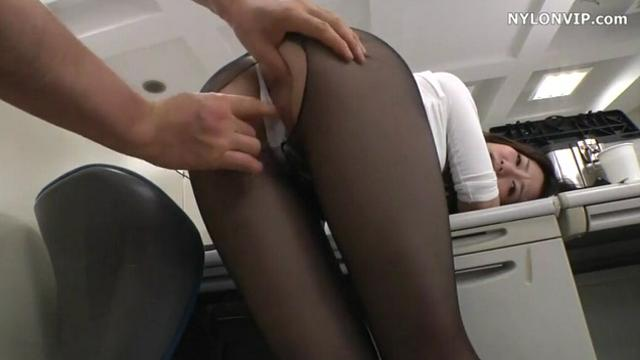 pantyhose office secretary nylon fuck