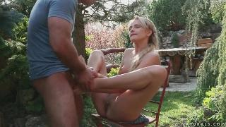 Foot job out door