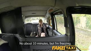 Skinny blonde swaps ride for a ride