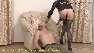 Fancy Black Pantyhose In Action