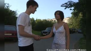 TEENS MEET ON THE STREET AND FUCK ON A FIRST DATE