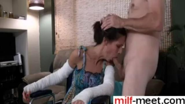 Horny Son Fucks Not Real Mother