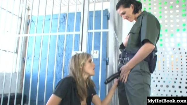 Kara Price and Roxanne Hall are a sadistic, horny guard and helpless new