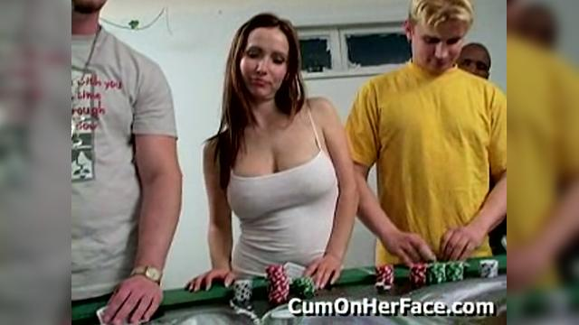 Cum on her face jenny poker