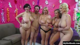 Nikki Sexx, Samantha 38G, Siri, and Beverly Paige star in this pussy pounding