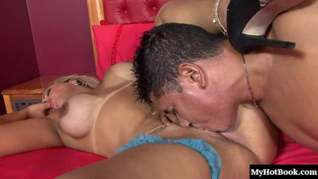 Angel Lima is a blonde bombshell with a big rack and a huge