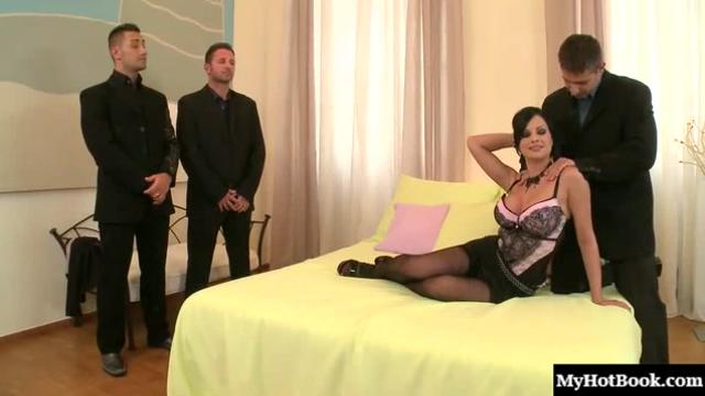 Abbie Cat is a gorgeous huge boobed brunette who visits a hotel room