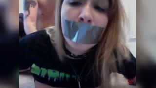 This had all the makings of a snuff film, fortunately it was just a anal film.Girl has her mouth taped while she is anal fucked.