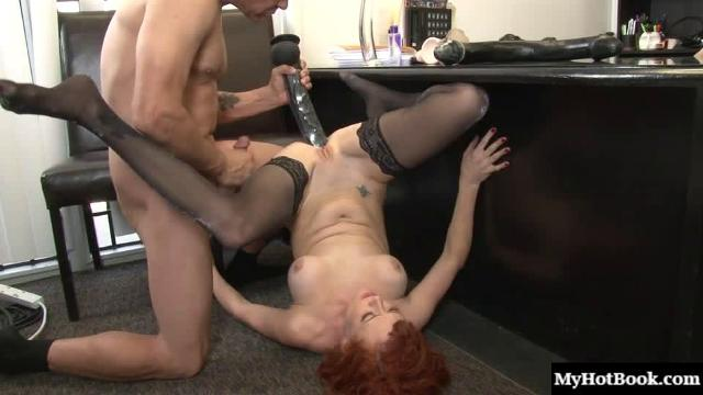 Audrey Hollander has a set of holes that need to be stretched on