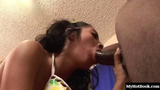 This petite Latina finally got to get some real cock inside her, and