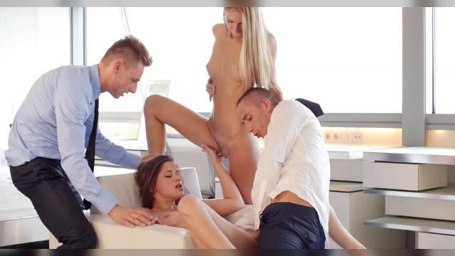 Anjelica And Little Caprice 2 on 2 Sex