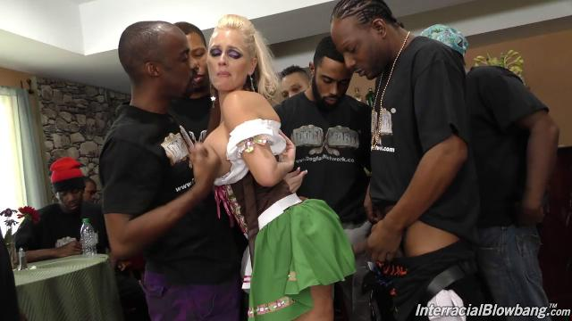 Alena Croft interracial blowbang