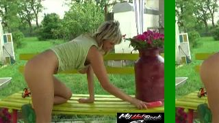 This Eurobabe is too much she is now experimenting squirting style